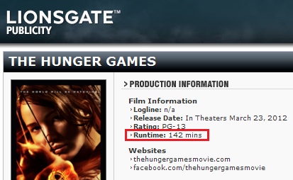 Official Runtime for The Hunger Games movie - the-hunger-games-movie Photo
