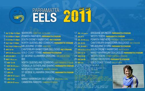 Paramatter Eels Draw 2011