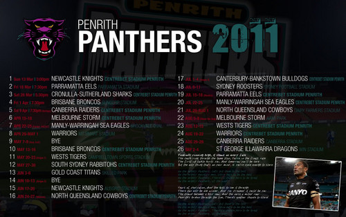 Penreth Panthers Draw 2011