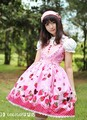 Pink Strawberry Lolita Dress - lolita-fashion photo