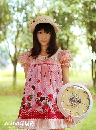 Pink Strawberry Lolita Dress