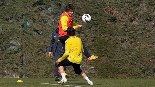 Pinto, Keita and Pedro train with B team
