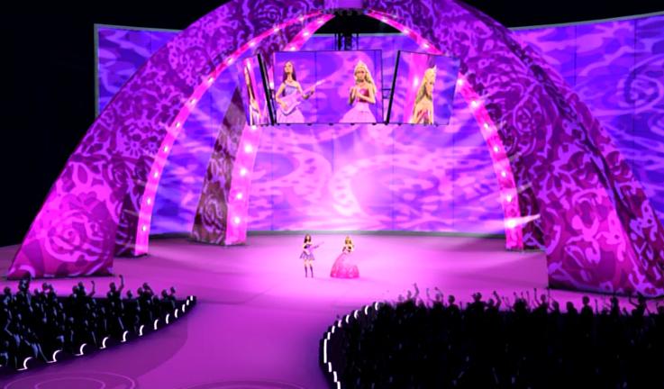 Princess & The Popstar Tori and Keira concert - barbie-movies