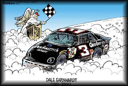 Racing into heaven - dale-earnhardt-sr Fan Art