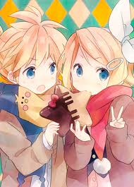 Vocaloids wallpaper probably with anime titled Rin x Len