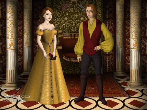 Once Upon a Time - Es war einmal... Hintergrund titled Rumpelstiltskin & Belle