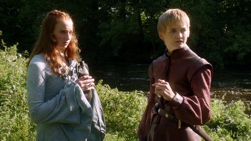 Sansa Stark and Joffrey Baratheon