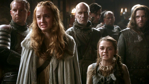 Sansa and Arya Stark