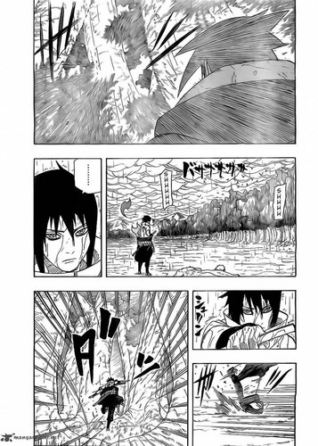 Uchihas Hintergrund possibly with a street, a sumac, and a newspaper entitled Sasuke vs Itachi