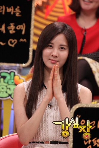 Seohyun @ SBS Strong hati, tengah-tengah