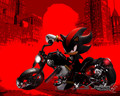 Shadz on his motorcycle with a gun - shadow-the-hedgehog photo
