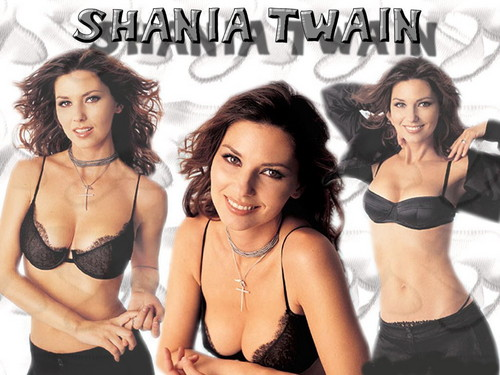 Shania Twain achtergrond with a brassiere, an uplift, and attractiveness called Shania Twain