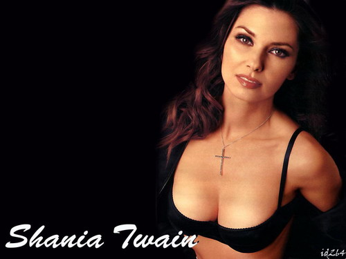 Shania Twain karatasi la kupamba ukuta possibly containing attractiveness, a bikini, and a brassiere called Shania Twain