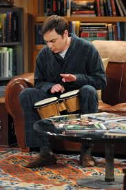 Sheldon likes to play bongos