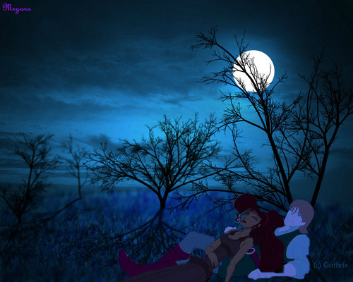 disney crossover images Sleeping Under The Full Moon HD wallpaper and background photos