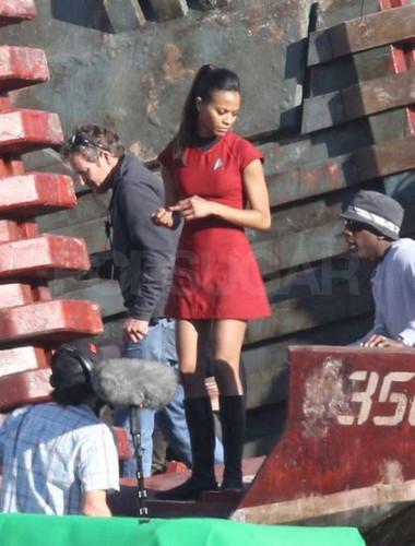 ngôi sao Trek sequel - Shooting