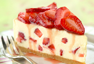 Cheesecake wallpaper containing a virginia strawberry, a strawberry, and a split titled Strawberry Cheesecake