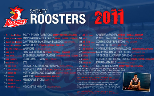 Sydney Roosters Draw 2011