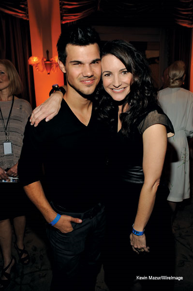 """Taylor with Kristin Davis at the """"Night Before Party"""""""