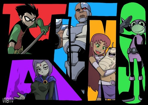 Teen Titans - les jeunes titans karatasi la kupamba ukuta containing anime entitled Teen Titans shabiki Art