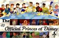 The 10 Official Princes of disney