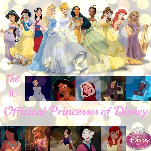 The 10 Official Princesses of डिज़्नी