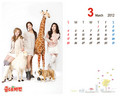 Tiffany Yuri & Hyoyeon Goobne 2012 March calendar - tiffany-girls-generation wallpaper