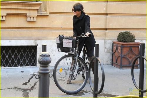 Vanessa Hudgens: Bike Ride in Rome