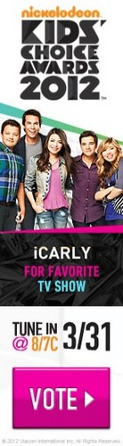 Vote for iCarly for the 2012 Nickelodeon Kids' Choice Awards