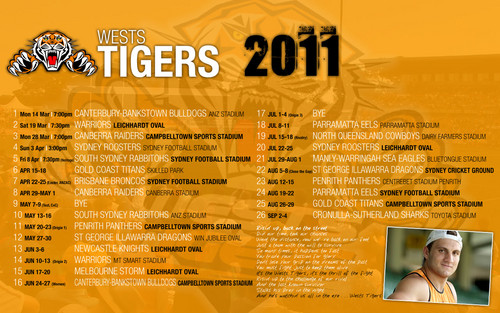 West Tigers Draw 2011