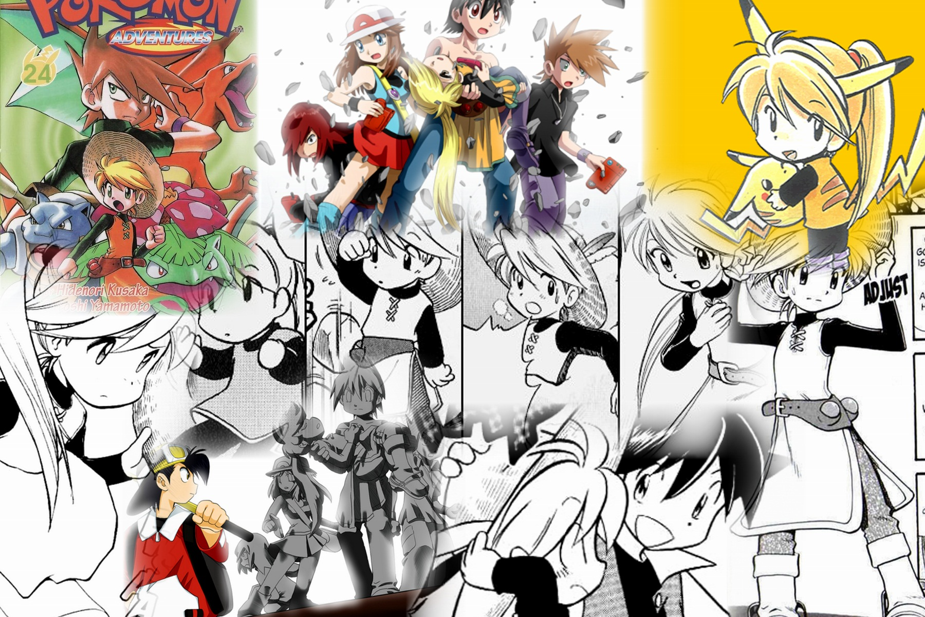 Yellow From Pokemon Adventures Images Yellow Collage Hd Wallpaper And Background Photos