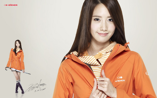 S♥NEISM wallpaper probably containing an outerwear, a box coat, and an overgarment entitled Yoona - Eider Website Wallpape