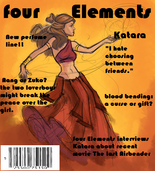 Avatar the last airbender four elements magazine
