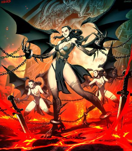 Greek Mythology wallpaper containing anime called erinyes