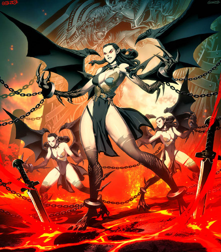 Greek Mythology wallpaper with anime titled erinyes