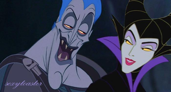Le(la) plus SEXY des MÉCHANT(E)S ? Hades-and-maleficent-disney-crossover-29436507-700-378