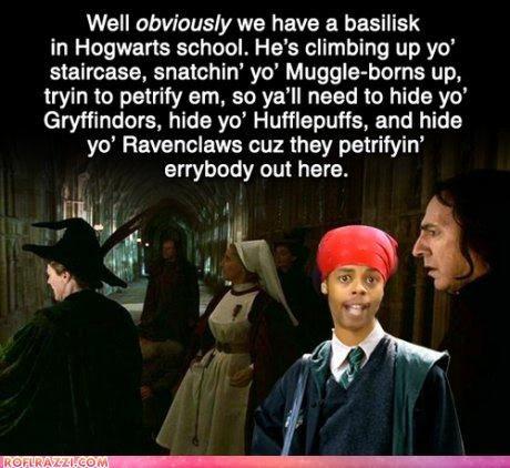intruder in Hogwarts