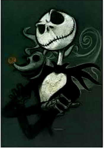 Nightmare Before Christmas wallpaper possibly containing anime titled jack