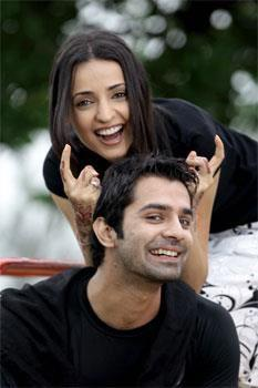 iss pyaar no kya naam doon fond d'écran with a portrait titled khushi and arnav