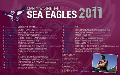 manly sea eagles draw 2011