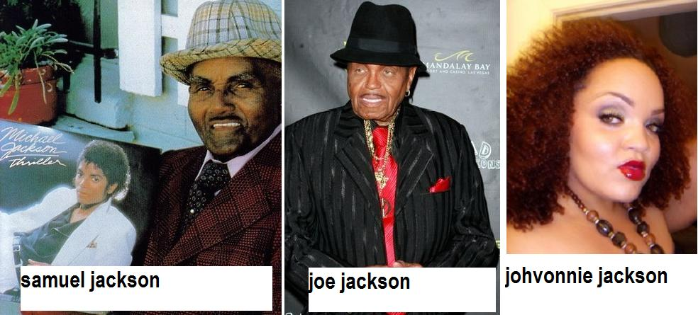 michael jackson's grandfather, dad and half sister identical