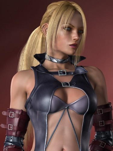 Tekken wallpaper possibly with a bustier, a leotard, and tights titled nina