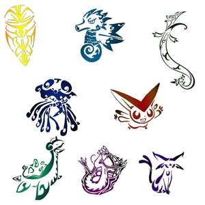 Tribal tattoos achtergrond titled pokemon