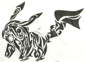 Tribal 纹身 壁纸 called pokemon