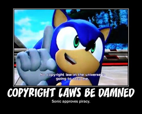 sonic hates copyright laws
