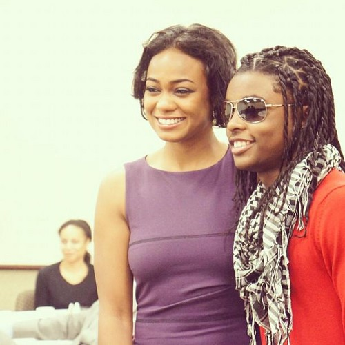 """Me and Tatyana Ali from Fresh Prince :-p"""
