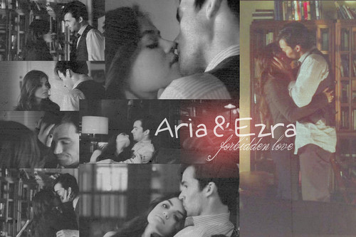 Aria Montgomery wallpaper entitled Aria&Ezra!