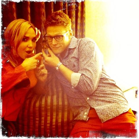 Arielle and Zach Roerig