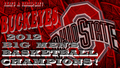 BUCKEYES 2012 B1G MEN'S basketball, basket-ball CHAMPIONS