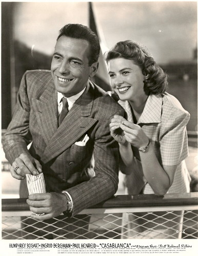 Bogie and Ingrid Bergman in Casablanca